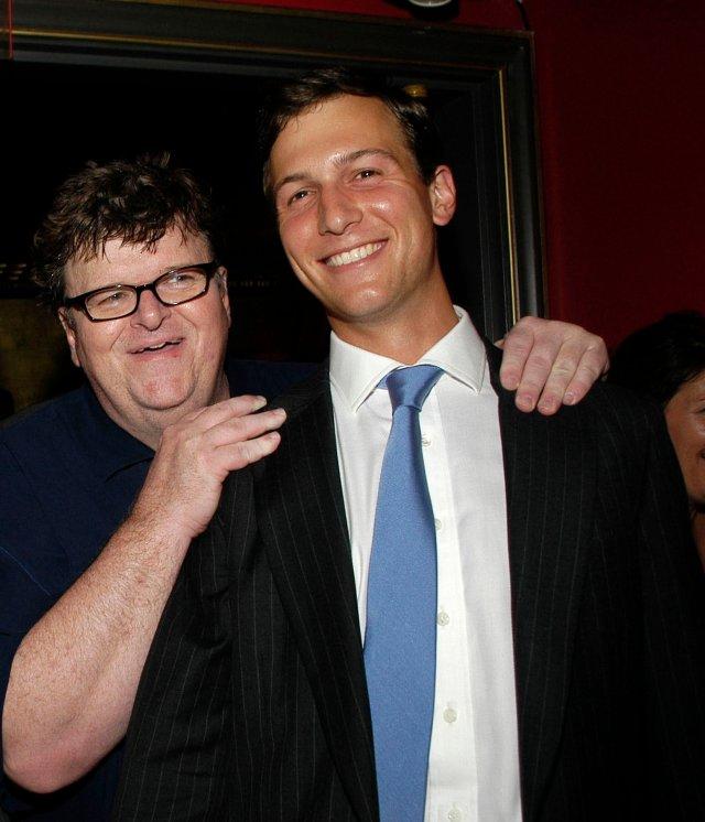 Michael Moore and Jared Kushner.