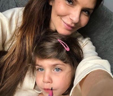 Ellie Holman with her daughter Bibi.