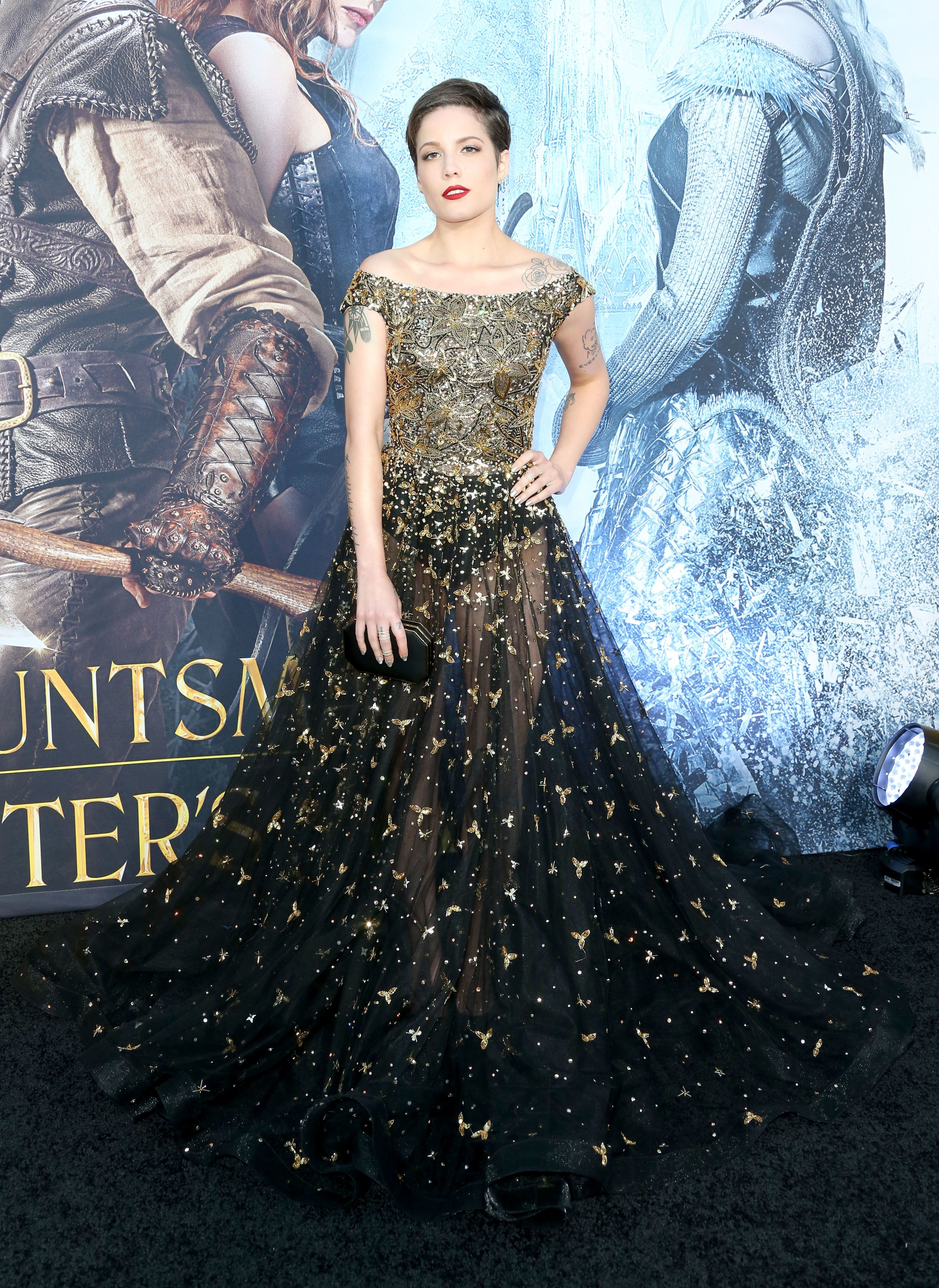 "At the premiere of Universal Pictures' ""The Huntsman: Winter's War,"" April 11 in Westwood, California"