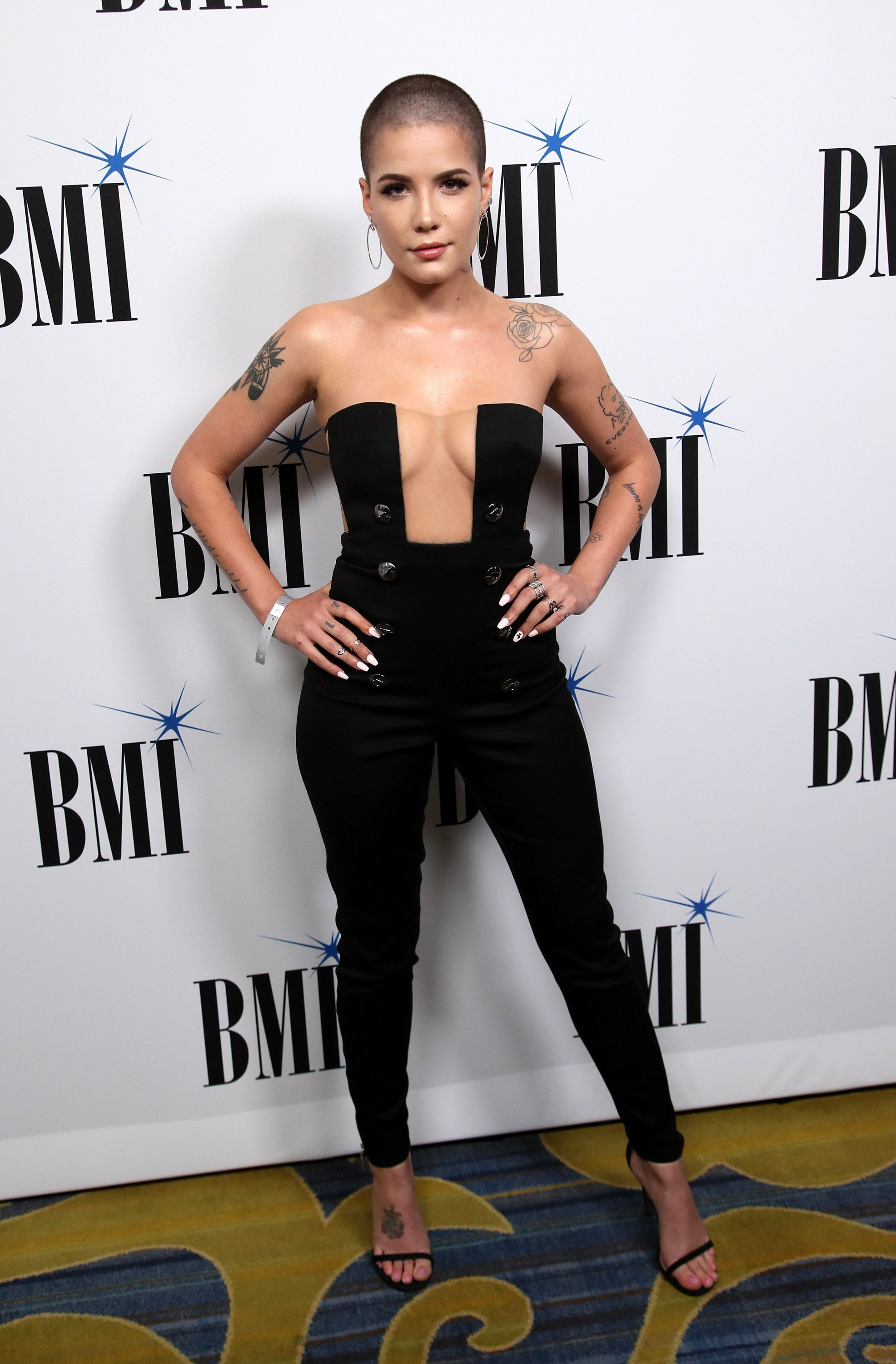 Wearing a Julien Macdonald look at the BMI Pop Awards on May 9 in Beverly Hills, California.