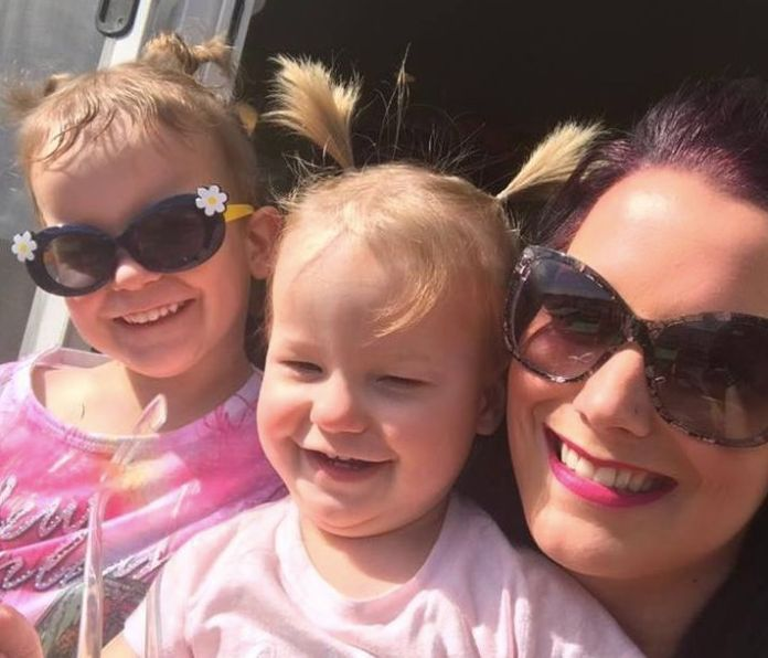 A photo of Shanann and her two girls posted to her Facebook page in March 2017.