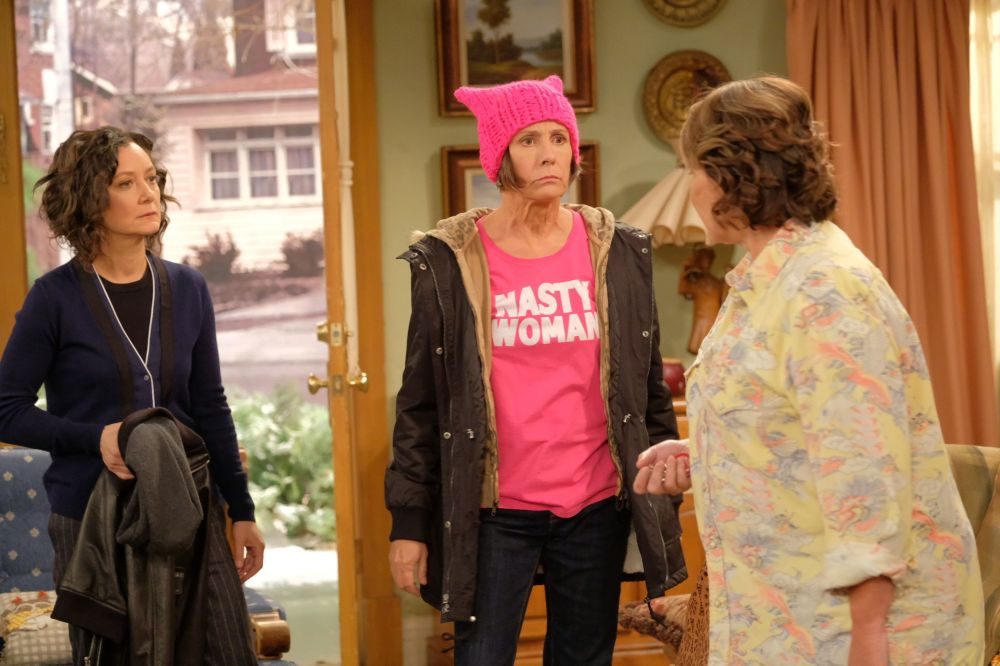 Sara Gilbert, Laurie Metcalf and Roseanne Barr in the revival.