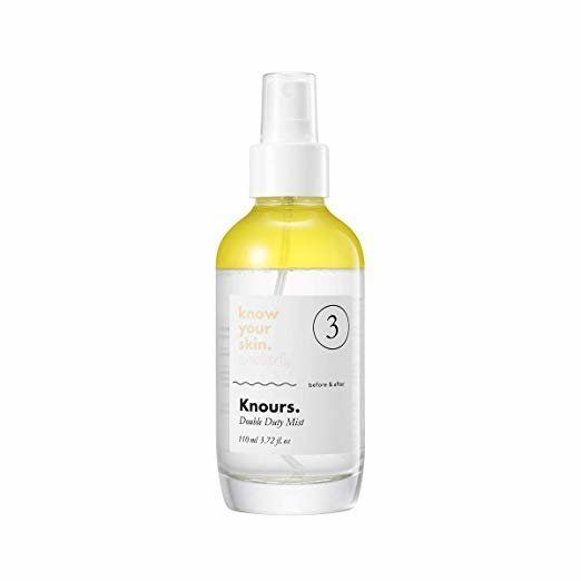 This two-layer mist is made with skin-nourishing ingredients. The bottom layer is soothing aloe water, while the top layer is