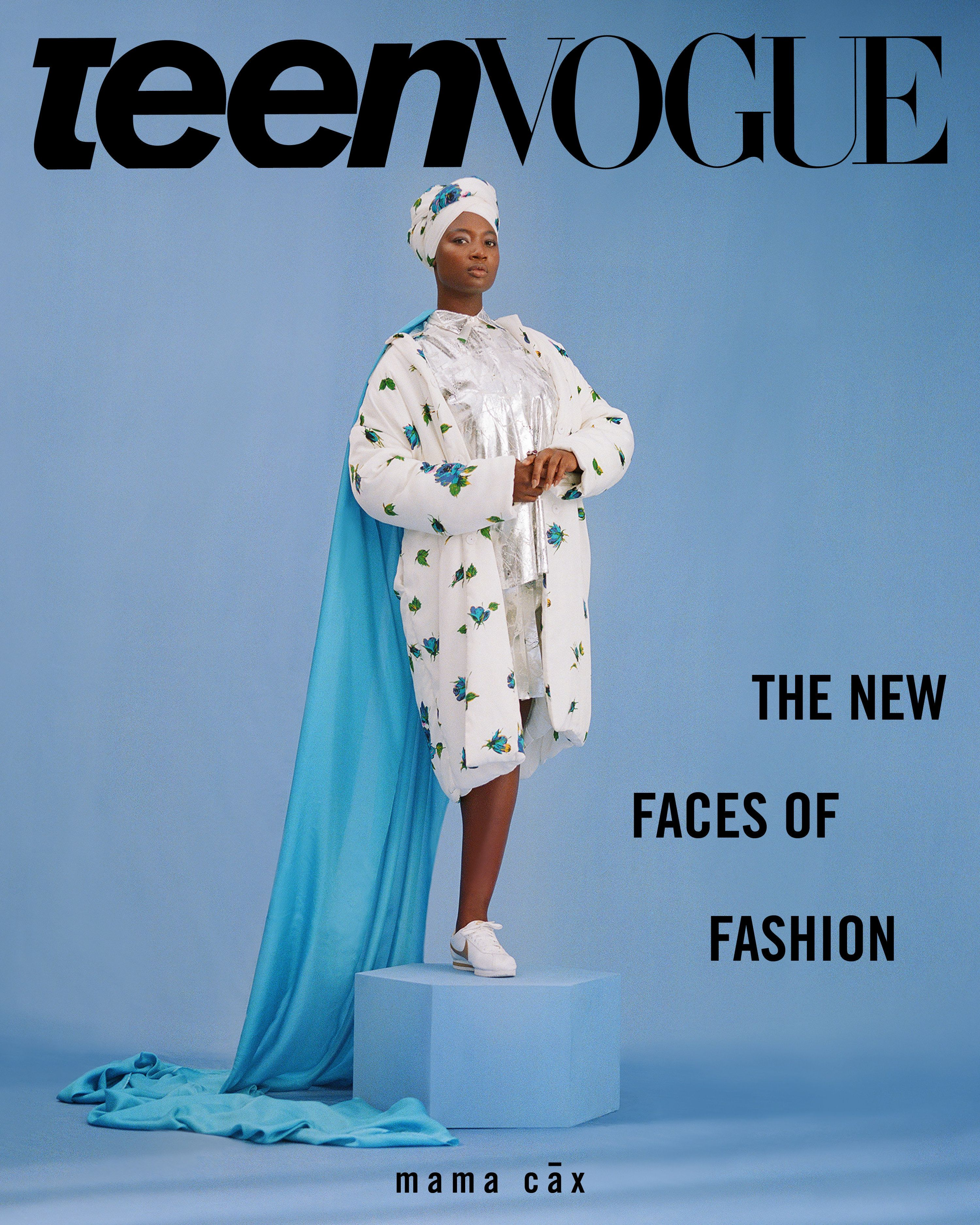 The Teen Vogue cover featuring model Mama Cax.