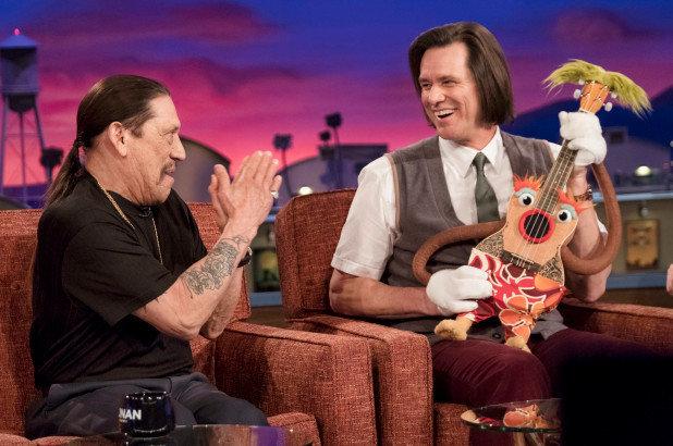 """Danny Trejo and Jim Carrey in """"Kidding."""""""