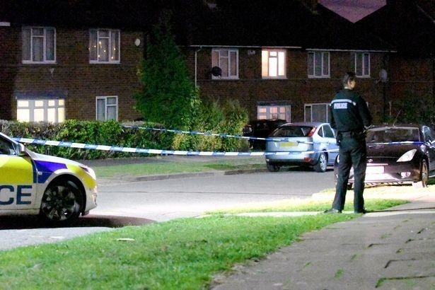 The scene where a 15 year old girl and 36 year old woman were shot in Birmingham