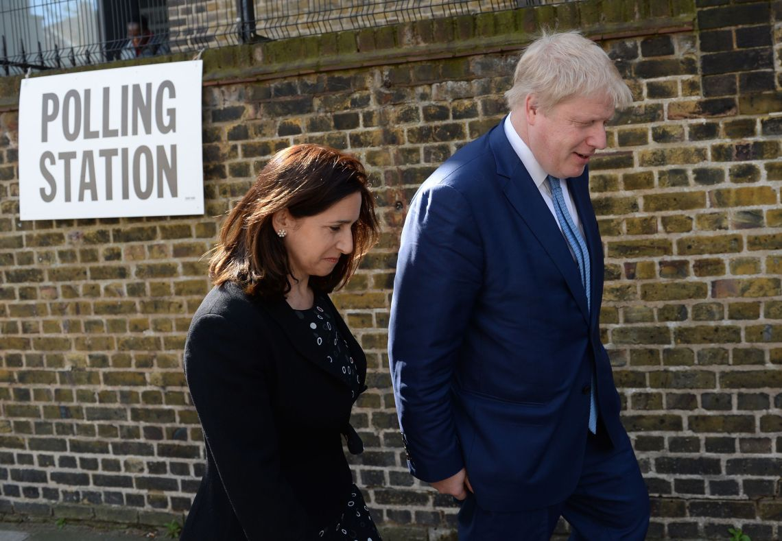 Marina Wheeler and husband Boris Johnson