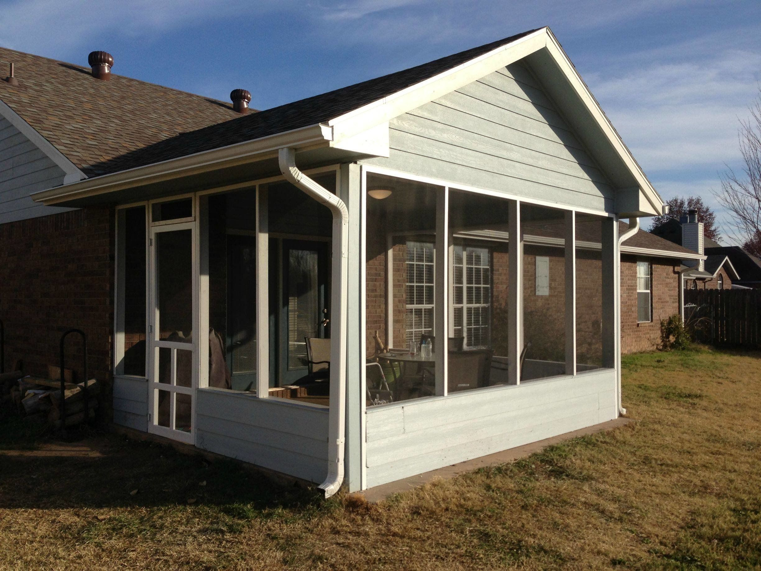 how to diy a screened in patio for only