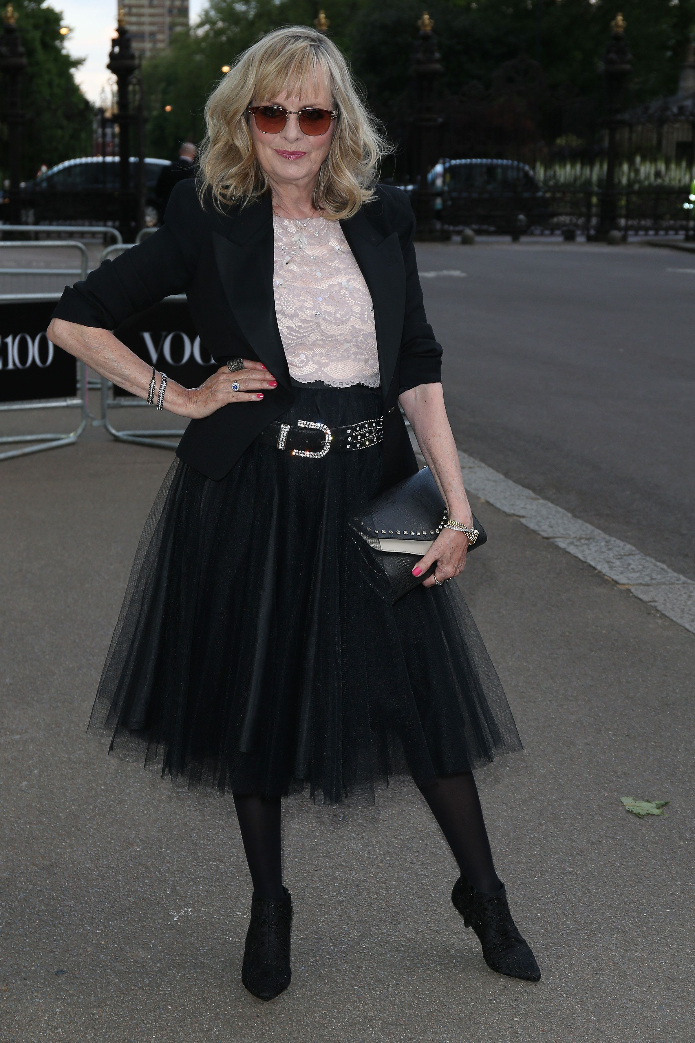The model attends the Vogue 100 Gala Dinner at the East Albert Lawn in Kensington Gardens in London.