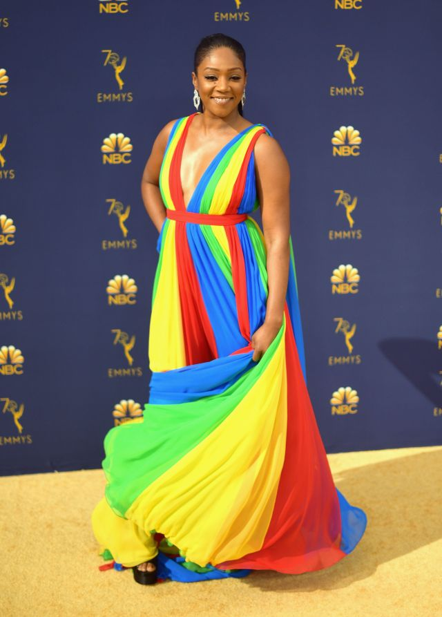 Haddish said the dress was inspired by the colors of the Eritrean flag.