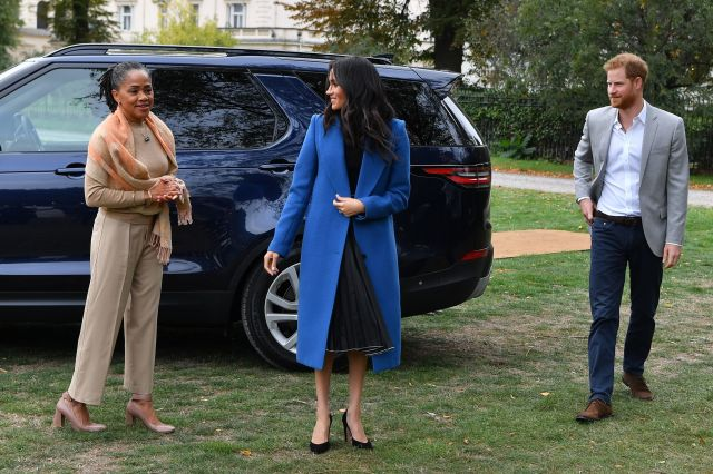 Meghan, Duchess of Sussex arrives with her mother, Doria Ragland and Prince Harry, Duke of Sussex to host an event to mark th