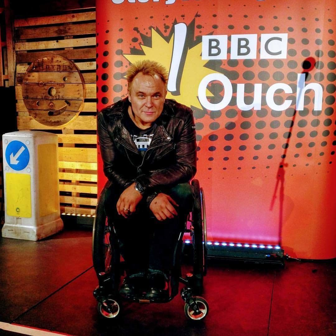 Mik Scarlet said disabled people won't get involved with his yoga blog for fear of being seen as too active.