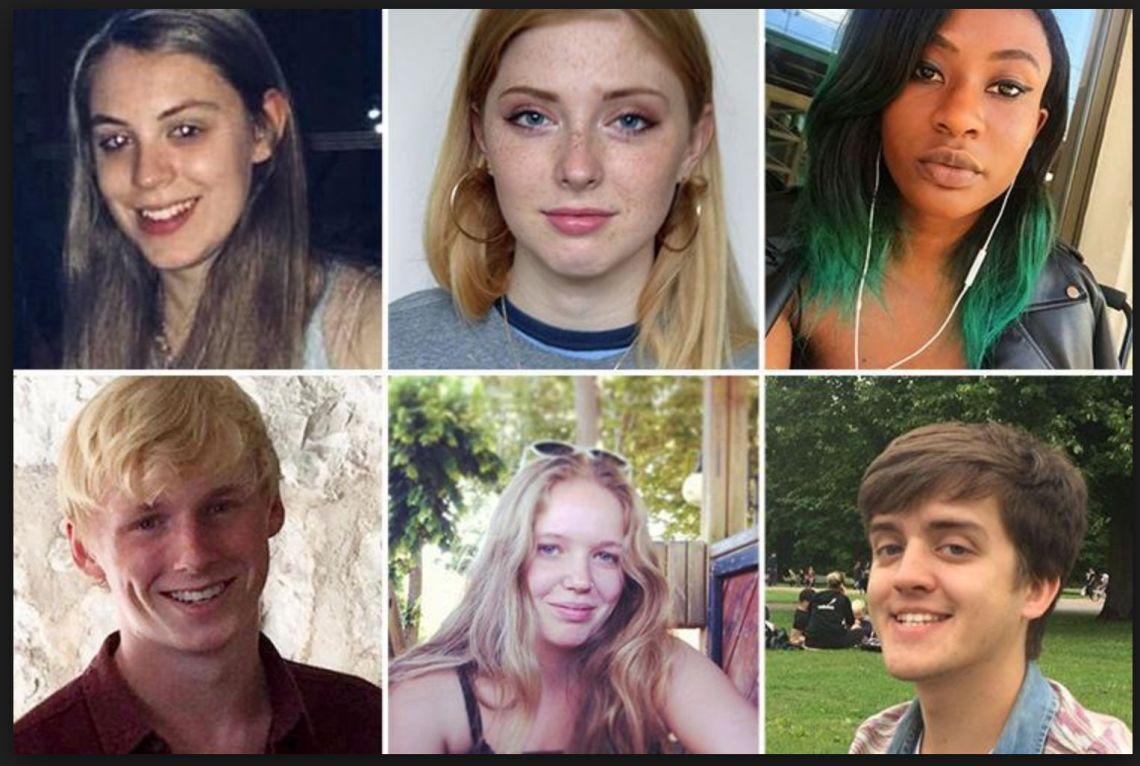 Bristol University students Natasha Abrahart Miranda Williams Lara Nosiru James Thomson, Kim Long and Alex Elsmore were all suspected to have taken their own life.