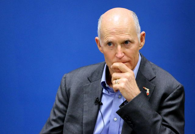 Florida Gov. Rick Scott, prevented by term limits from seeking another four years in the governor's mansion, has his sights o