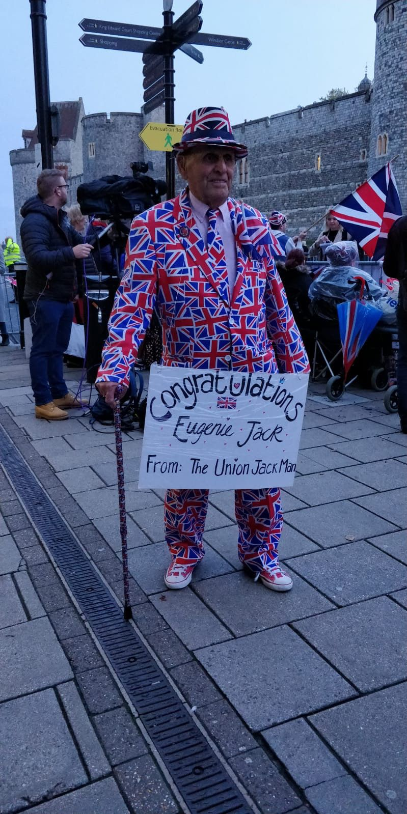 Terry Hutt, The Union Jack Man, in Windsor