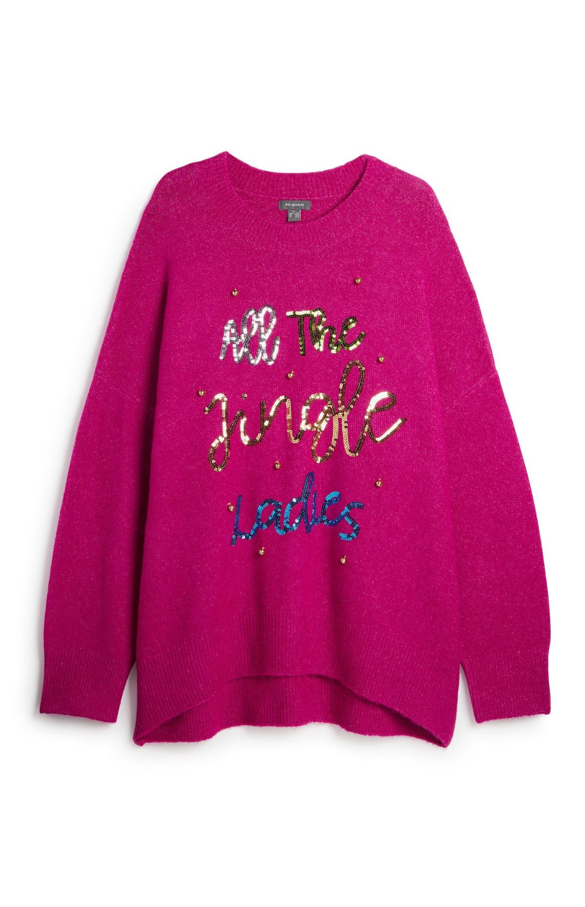 Punny, pink and positive - what more could a single lady want this Christmas?Primark, £12, available in stores now