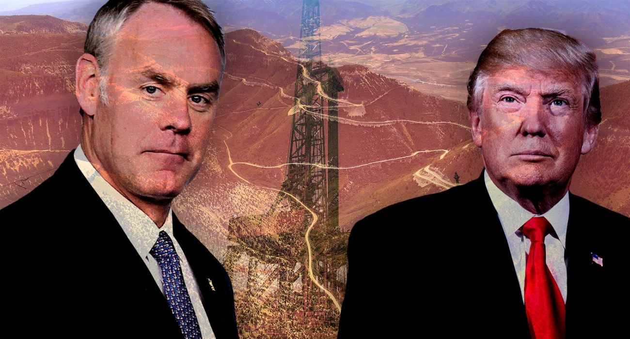 Interior Secretary Ryan Zinke and President Donald Trump.