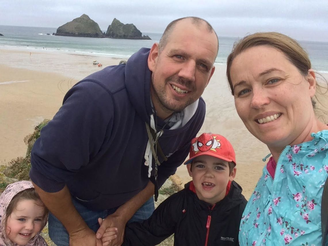 Alfie Dingley with his family
