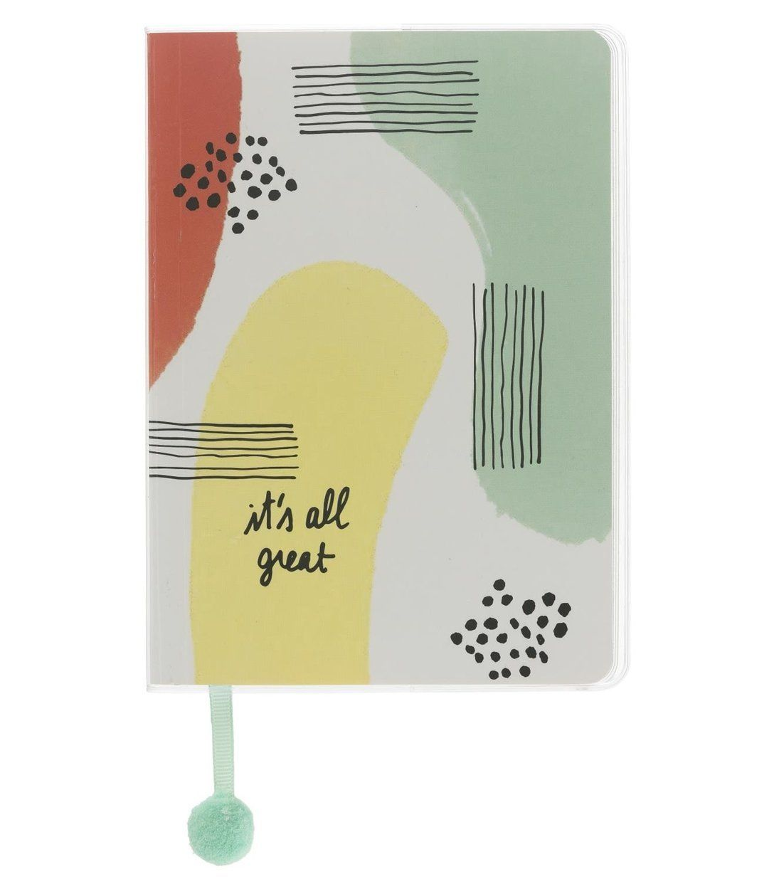 Okay we'll be honest, it was the pom pom bookmark that sold this A5 notepad to us. But we do also love the funky design and the absolute bargain of a price. HEMA. £3.