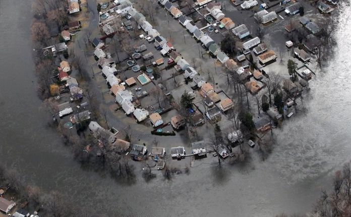Flooding due to climate change may make insurance companies wary.