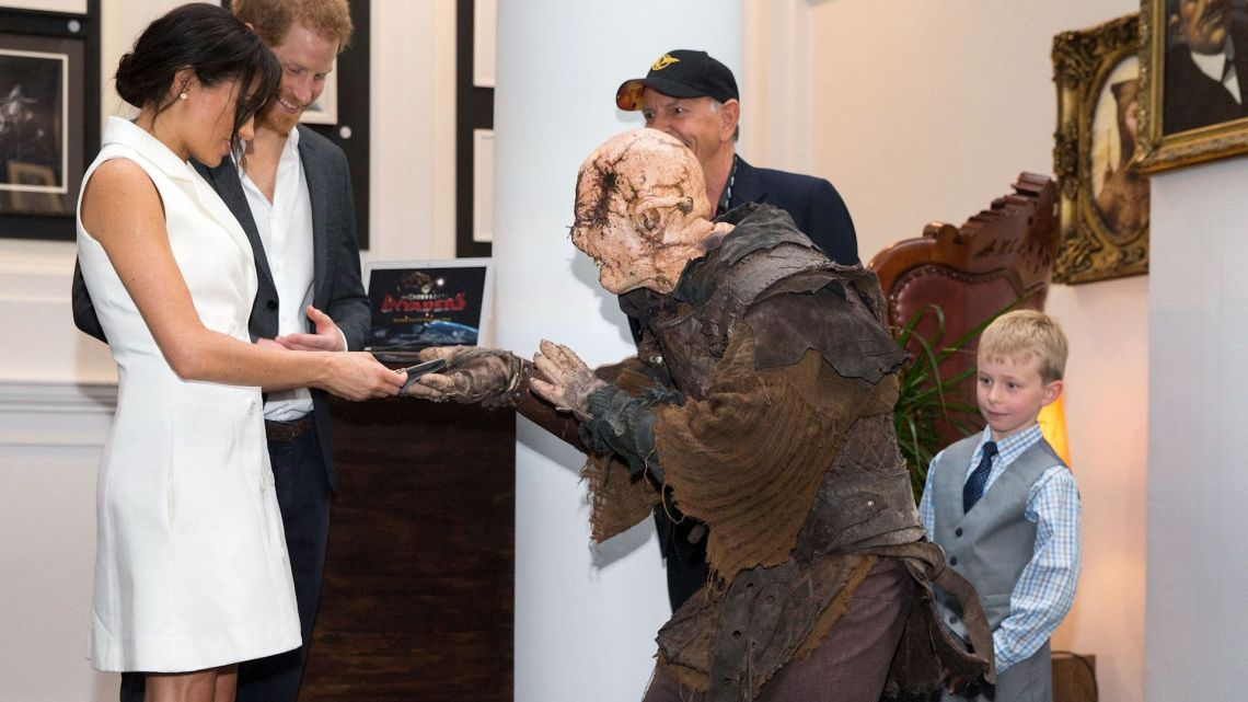 Meghan And Harry Meet Some Halloween-Ready Kiwis