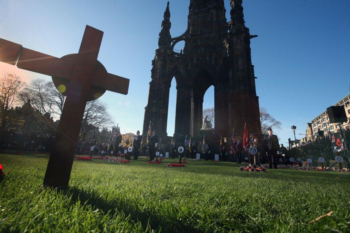 The Edinburgh memorial seen on Remembrance Sunday last year.