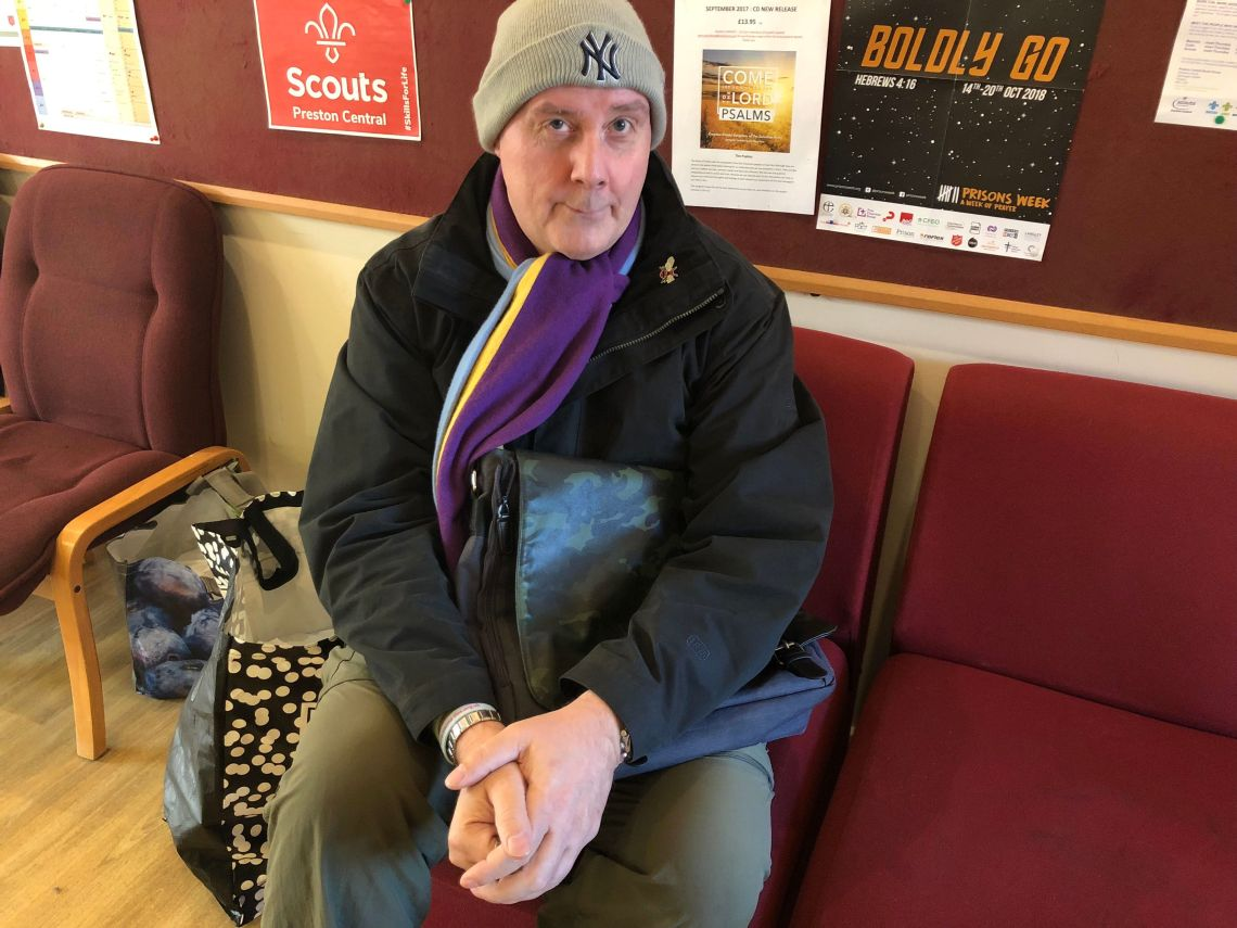 Mark Schwalbe. 55, who is says he needs emergency food packages to survive