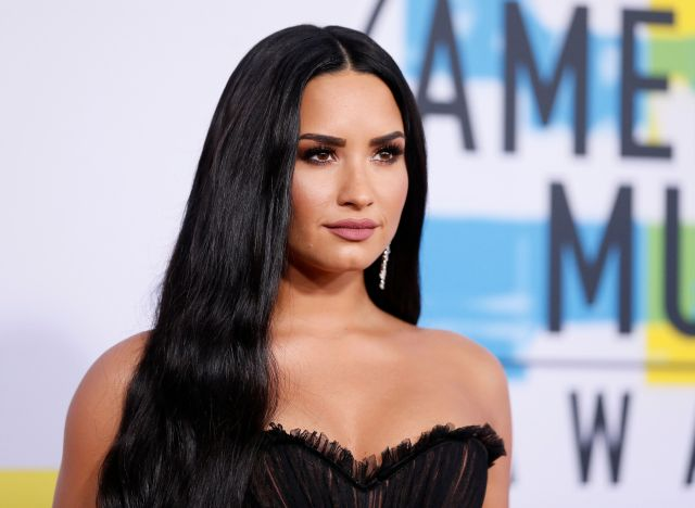 Demi Lovato on the red carpet at the 2017 American Music Awards.