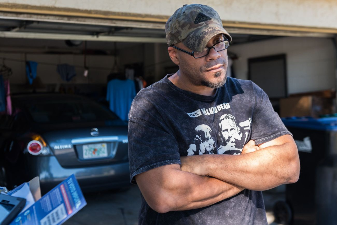 Pablo Gelabert stands outside his home in Orlando on Oct. 30, 2018.