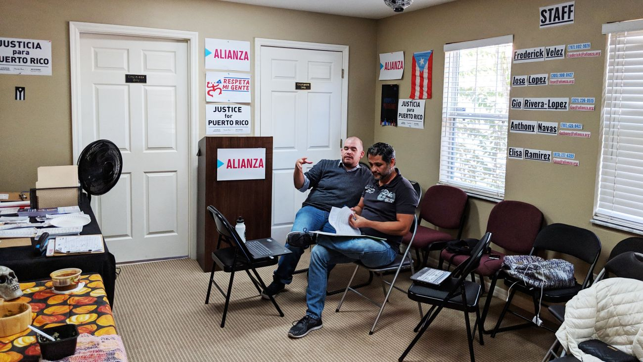Inside the headquarters of Alianza for Progress in Kissimmee, Florida.
