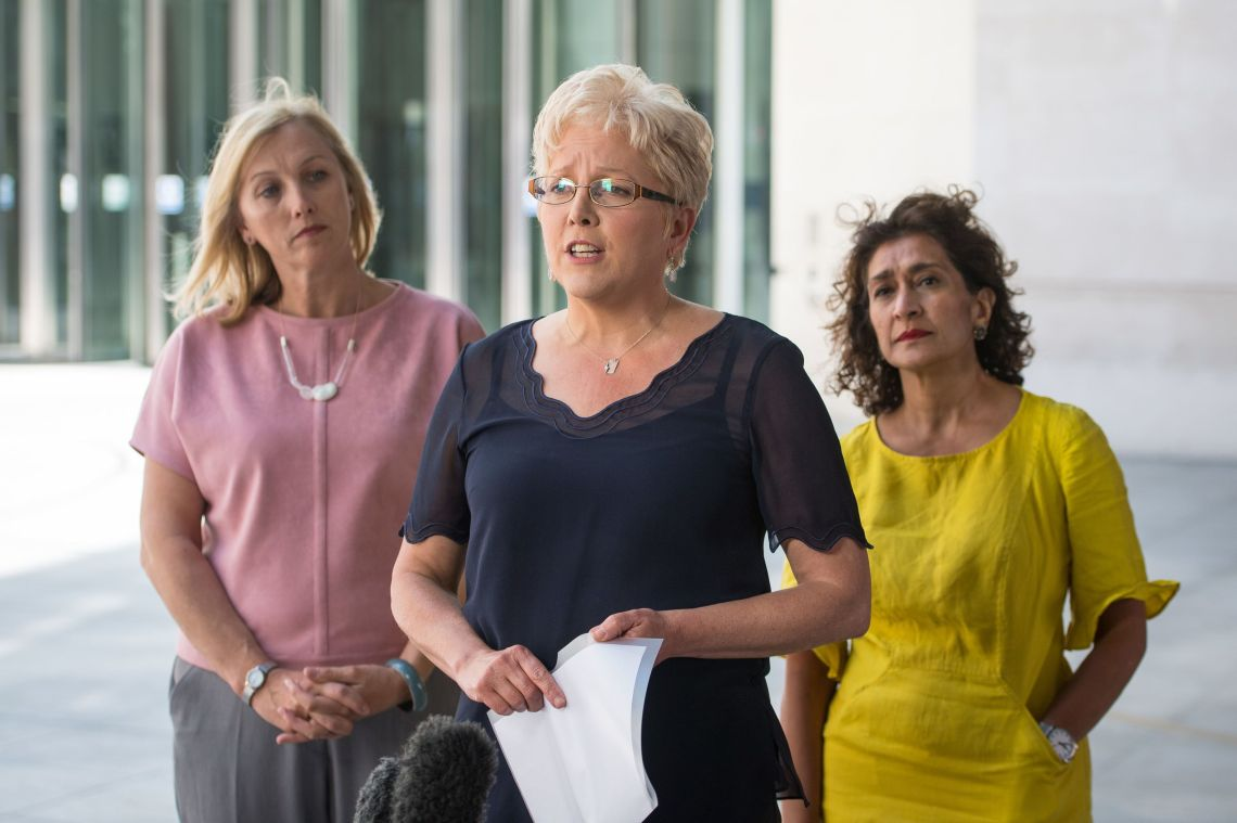 Carrie Gracie (centre)