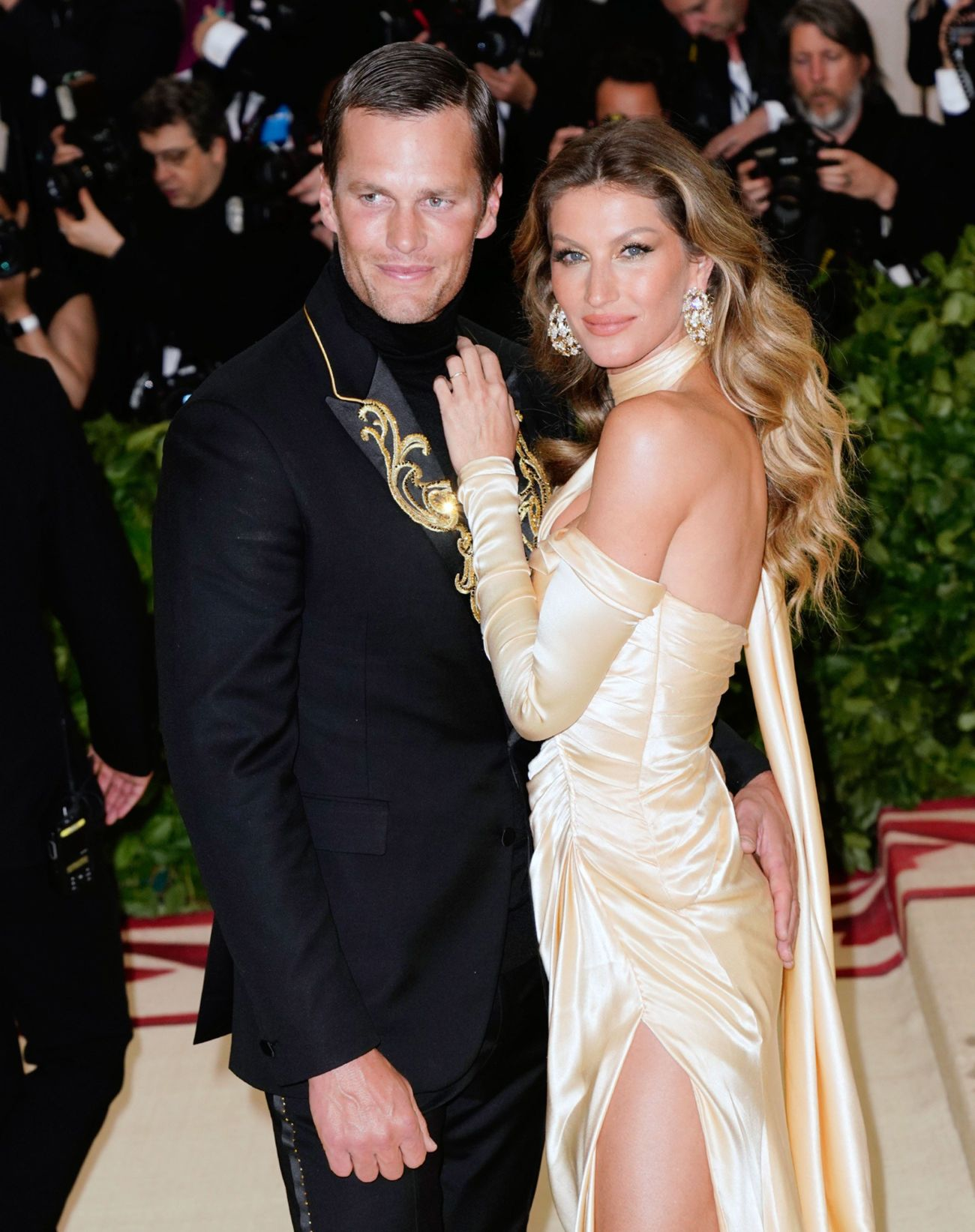 Bündchen and Tom Brady attend the Heavenly Bodies: Fashion & The Catholic Imagination Costume Institute Gala at