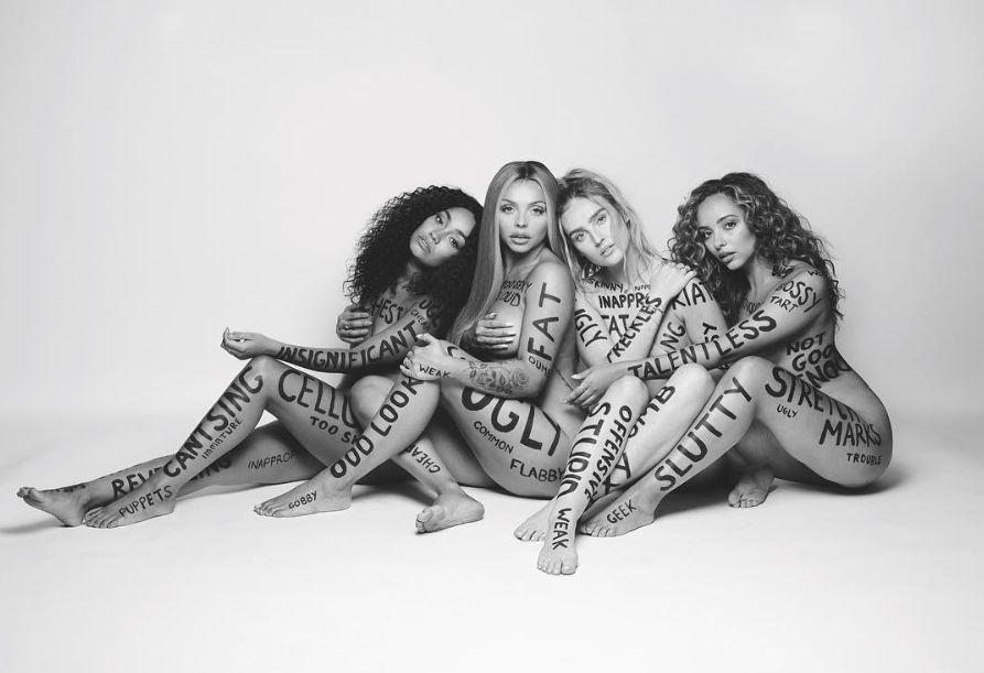 Little Mix in their 'Strip' video