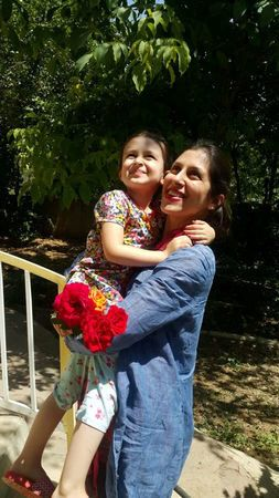 Nazanin Zaghari-Ratcliffe and her daughter Gabriella.