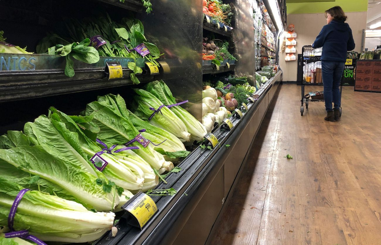 Romaine lettuce at a California grocery store. The Centers for Disease Control and Prevention recommends you throw away any r
