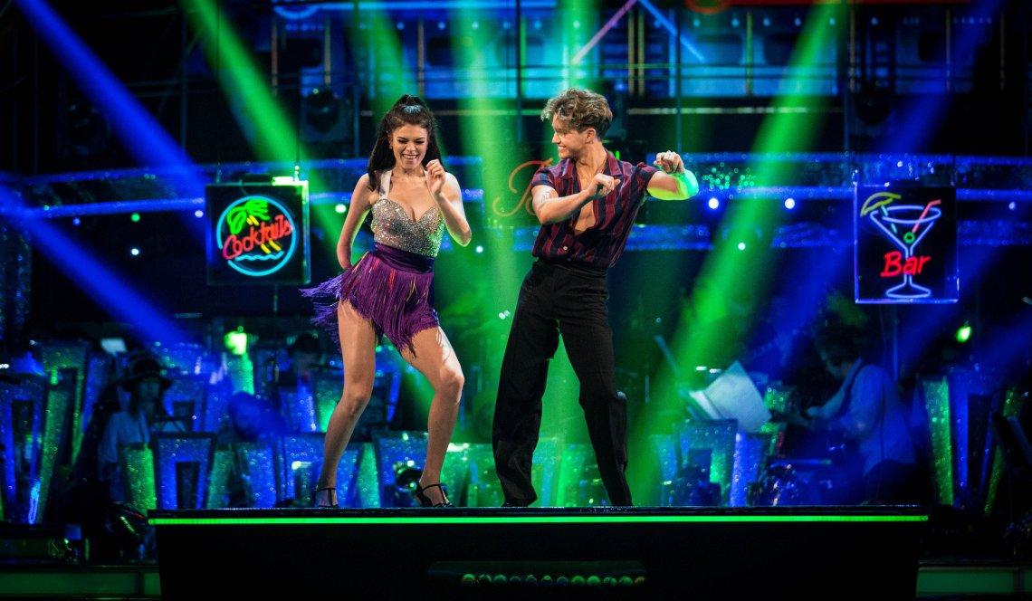 Lauren and AJ on the 'Strictly' dance floor