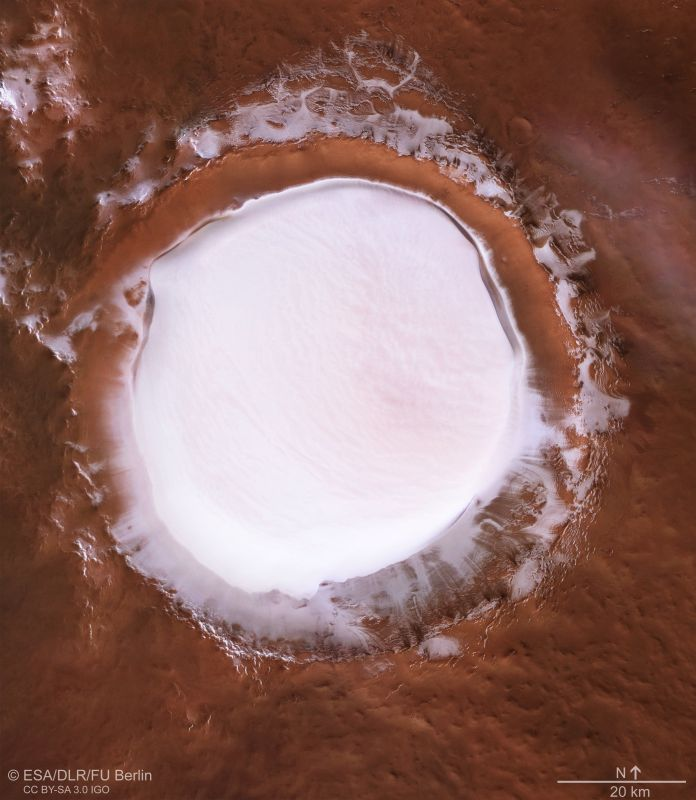 The pictures had some people wondering about a future filled with winter resorts on Mars.