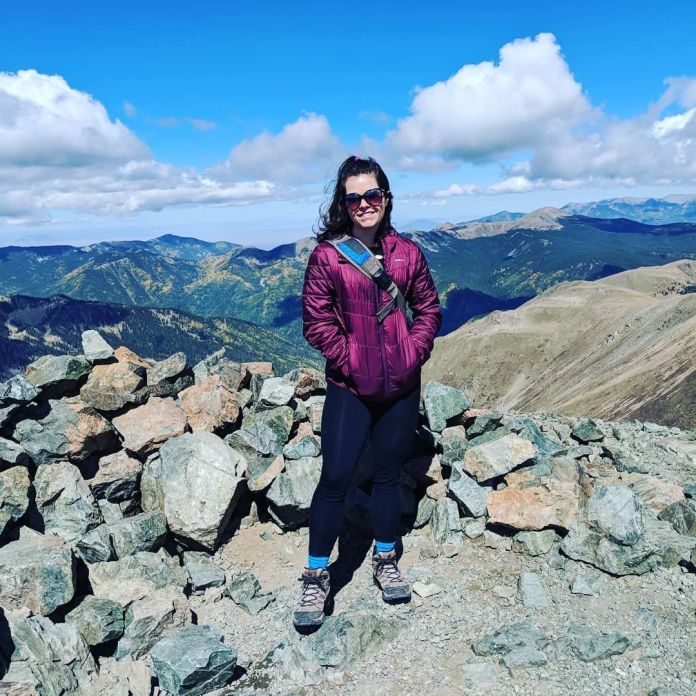 Photo after hiking up Mount Wheeler, the tallest in the state of New Mexico, in the fall of 2018.