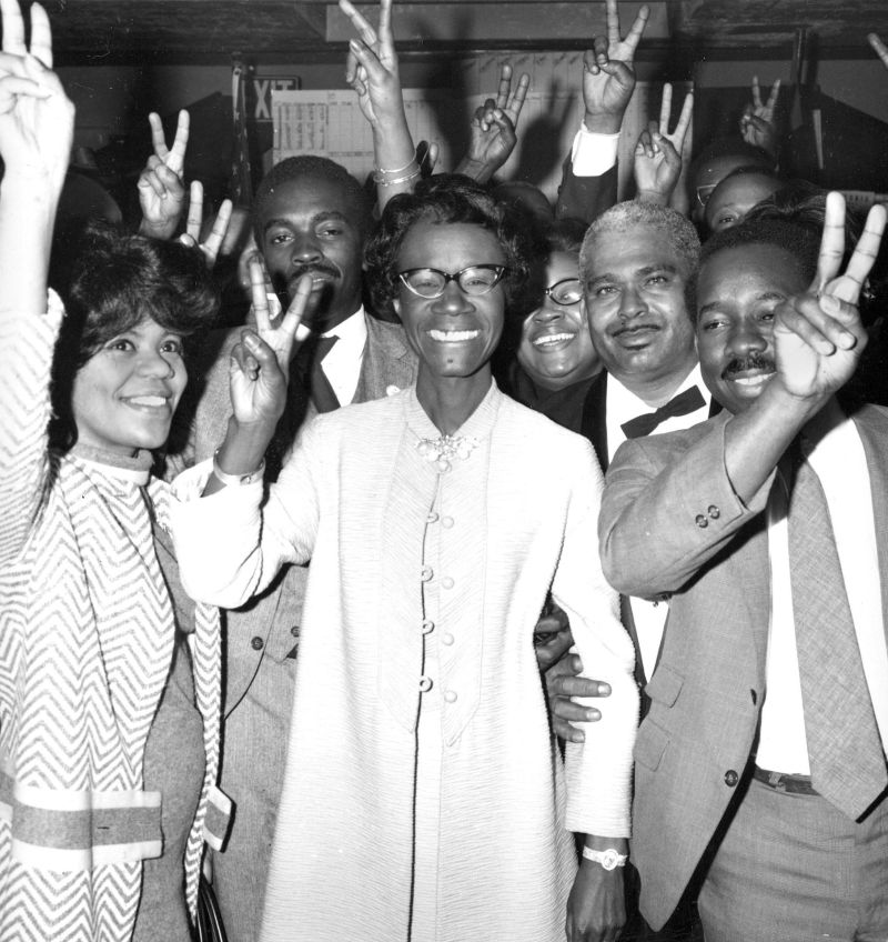 Rep. Shirley Chisholm was the first black woman elected to Congress.