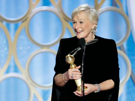Glenn Close wins Best Performance by an Actress in a Motion Picture - Drama at the Golden Globes.