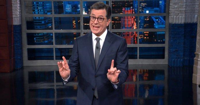 Stephen Colbert Gives Donald Trump's Wall Speech