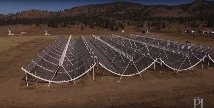 Repeating fast radio bursts from distant space, or FRBs, have been detected by Canada's CHIME Telescope, pictured.