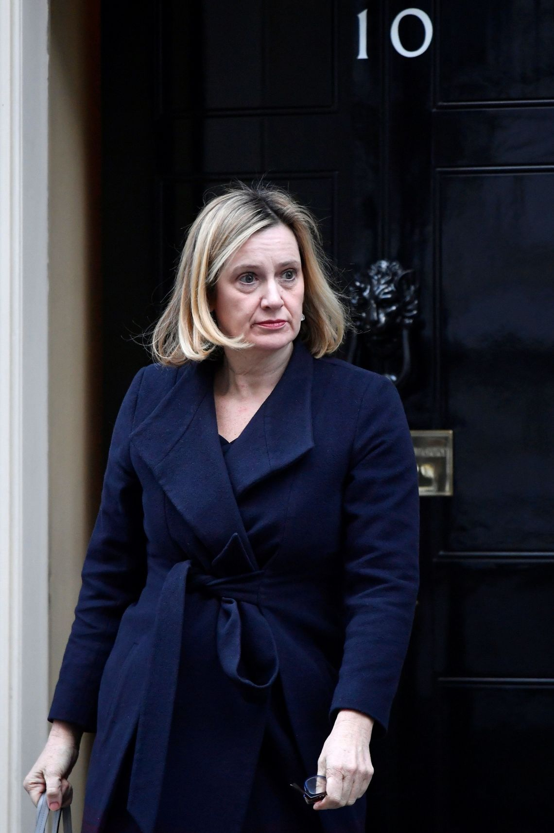 Work and Pensions Secretary Amber Rudd leaving Cabinet