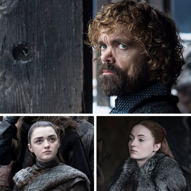 Starring Arya, Sansa and Tyrion as sad face emojis.