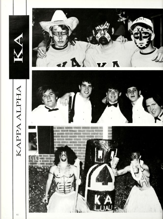 In the 1993 Millsaps yearbook, there was a photo on the Kappa Alpha page featuring two students in blackface.