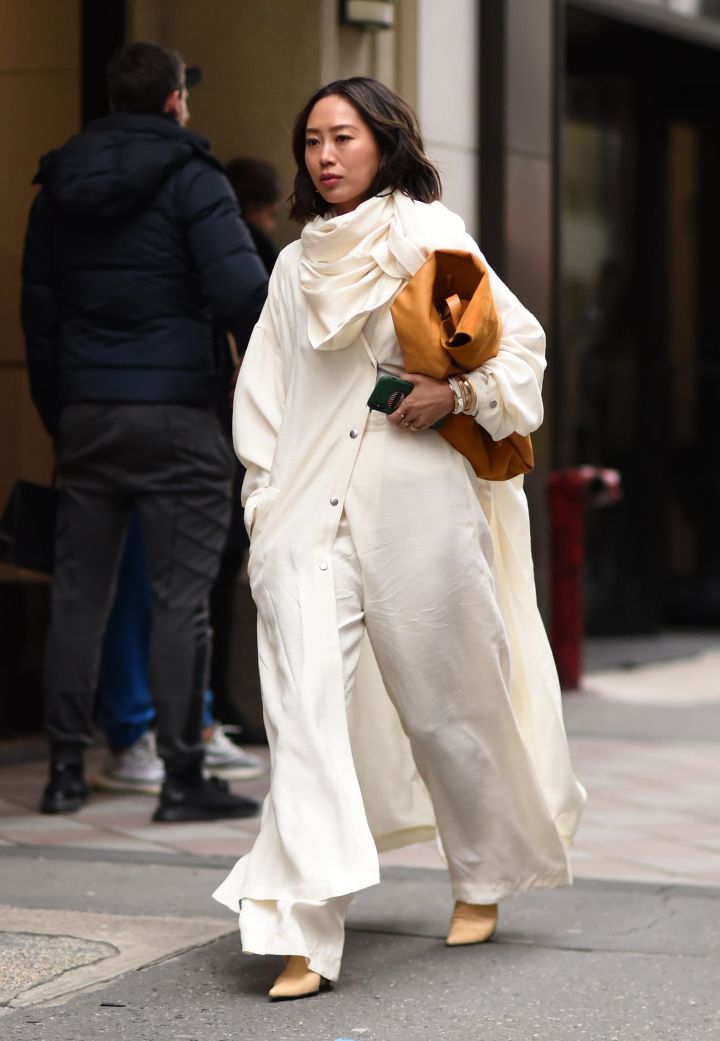 Aimee Song seen at New York Fashion Week, February 2019.