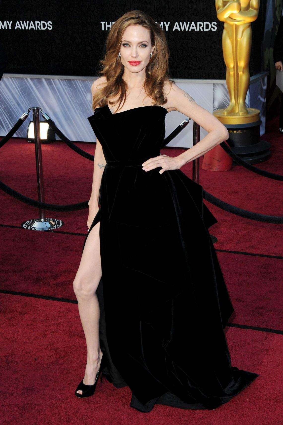 All these years later, it feels like the reaction to Angelina Jolie's leg bomb might have been a bit OTT, but back in 2012, her errant right leg really felt like a moment.