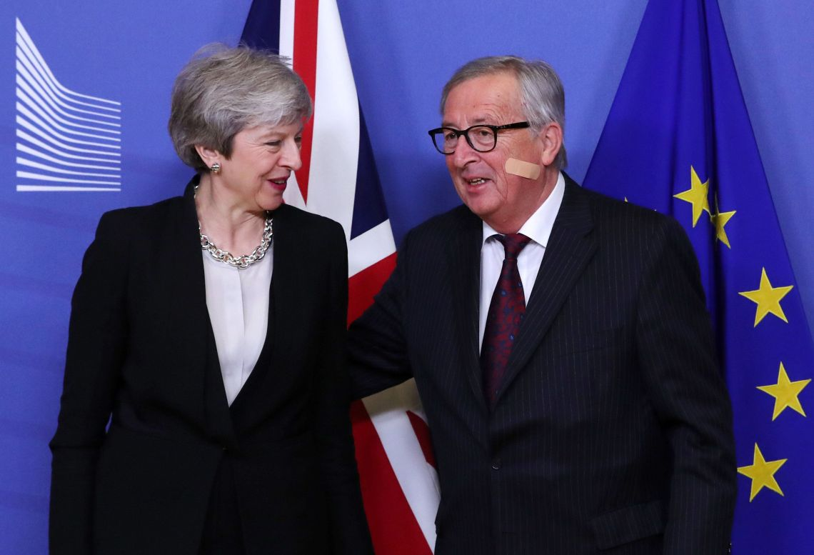 Theresa May with Jean-Claude Juncker in Brussels earlier this week