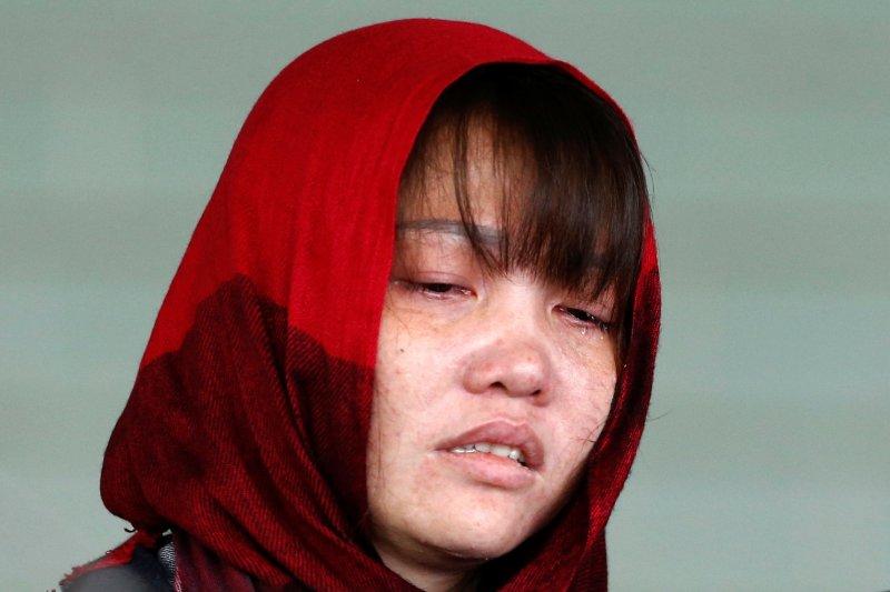 말레이시아 정부가 석방을 불허한 도안 티 흐엉. 2019년 3월 14일.