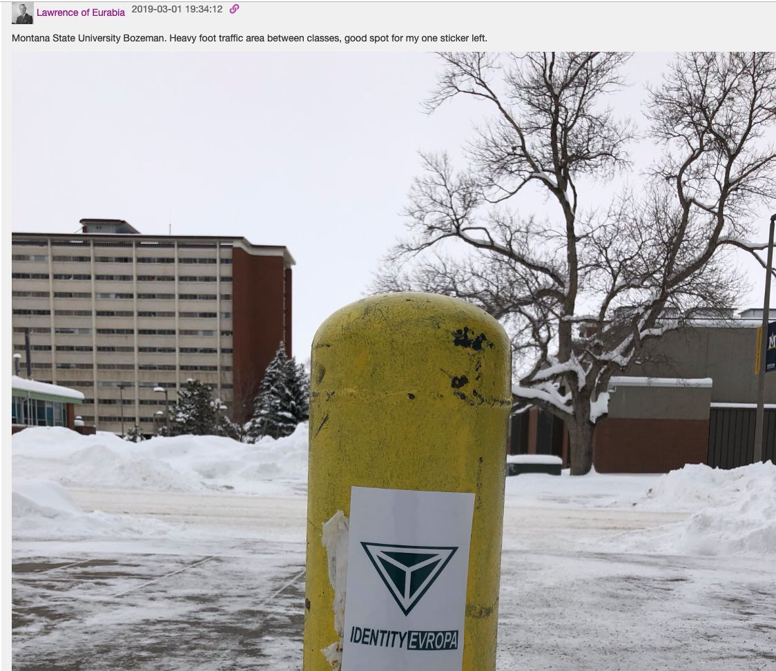Lawrence of Eurabia posted this photo in the Identity Evropa chat logs.